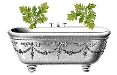 koupel z dubové kůry